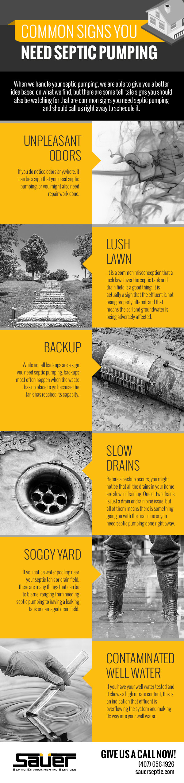 Common Signs You Need Septic Pumping [infographic]