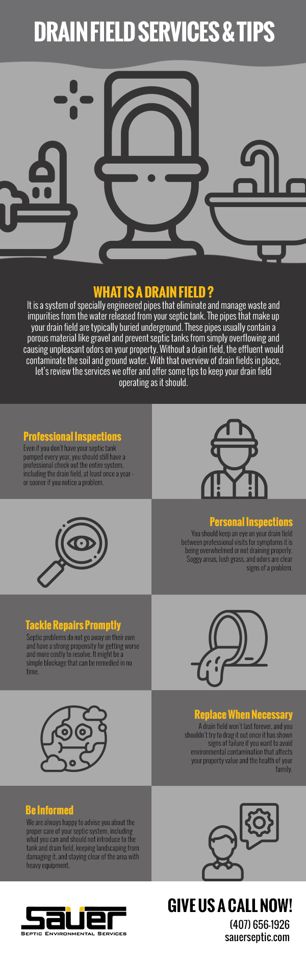 Drain Field Services & Tips [infographic]